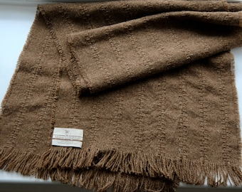 Shawl woven from Pure Manx Loaghtan wool