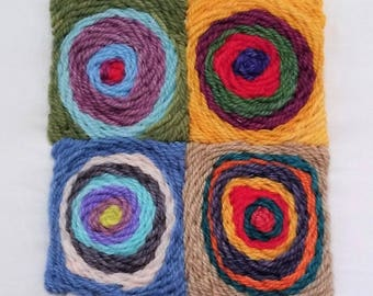 Crewel Embroidery Kit Concentric Circles
