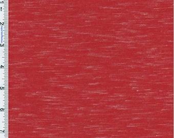 Red Slub Jersey Knit, Fabric By The Yard