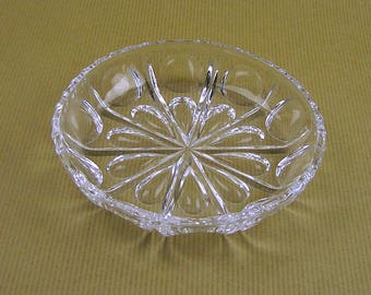 Vintage Pressed Glass Candy or Nut Dish Small Pressed Glass Bowl