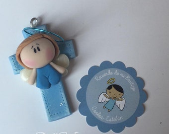 Party favors • Keychains • Angels souvenirs for baptism, baby shower, birth, party favors • Cold porcelain, clay