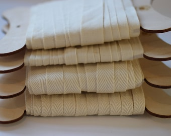 Cotton Tape in 10mm, 15mm & 20mm Widths 100% Organic Cotton