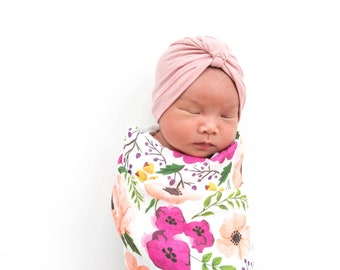 Floral Baby Blanket, Muslin Swaddle, Muslin Wrap Blanket, Josie Meadow, Baby Blanket, Flower Blanket, Baby Wrap, Baby Shower Gift