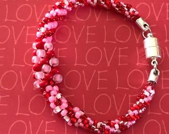 Kumihimo petite+ beaded bracelet