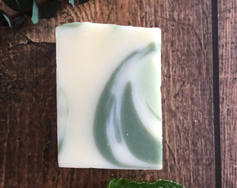 Scratch and Dent - Eucalyptus Spearmint Soap. Natural Soap. Herbal Skincare. Herbal Soap. Essential Oil. Gift Under 10. Eco Friendly Soap