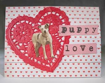 Puppy Love Valentine Card
