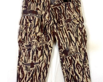 vtg Rattlers Brand USA Ducks Unlimited Camo Camouflage Hunting Pants sz 32 X 28