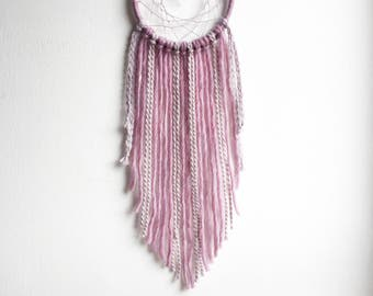 Pink Dream Catcher, Pink Bedroom Decor, Crystal Dream Catcher, Girls Dream Catcher, Girly Decor, Pink Wall Tapestry, Pink Wall Decor