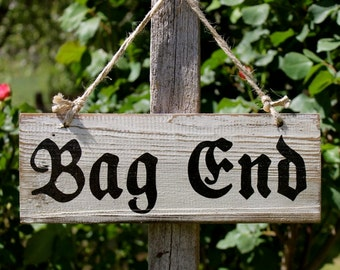 Bag End House Sign - Lord Of The Rings - Middle Earth