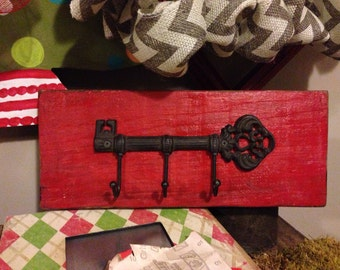 Rustic Barnwood Key Hook
