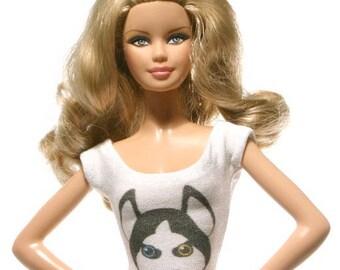 Handmade clothes for Barbie (T-shirt): Husky