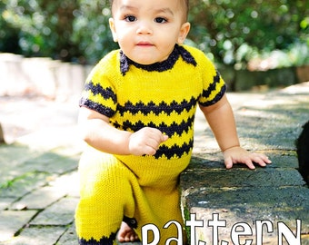 make your own Ollie Romper (DIGITAL KNITTING PATTERN) newborn baby toddler