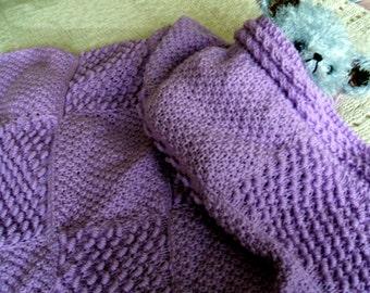 SALE! Baby Blanket knitting pattern in Coil & Irish Moss Stitch