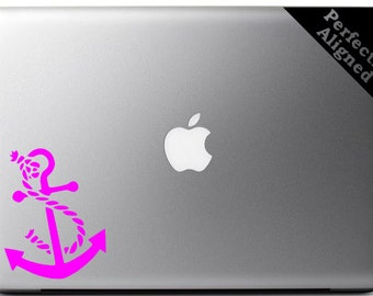 Vinyl Decal - Nautical Anchor Decal for Macbooks, Laptops, Cars, etc...