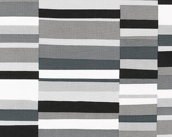 Geo Pop Canvas 2 Rectangles Fabric - Pepper - Sold by the 1/2 Yard