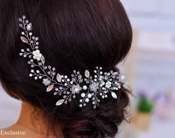 Wedding hair piece Bridal hair piece Bridal hair accessory Wedding hair accessory Wedding hair jewelry Wedding hair vine bridal crystal