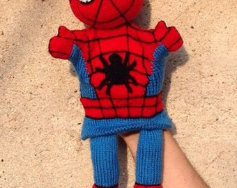 KNITTING tutorial/pattern: spiderman puppet