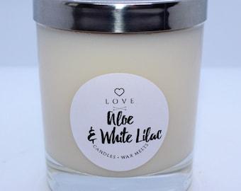 Small Aloe & White Lilac Candle