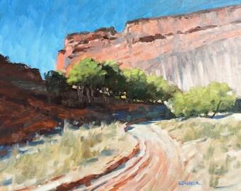 Desert 8x10 Landscape Oil Painting