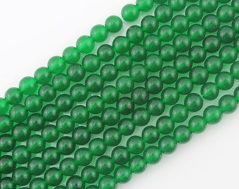 "SALE Jade Beads - Round Beads jade beads, Stone Beads Gemstone Beads - Full Strand 15"", One Full Strand-NS-013"