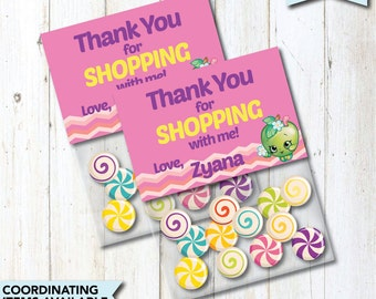 Personalized Shopkins Thank You Cards