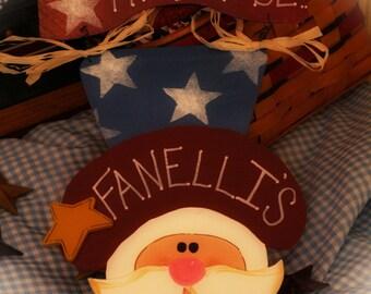 Americana Uncle Sam Patriotic Personalized Door Sign