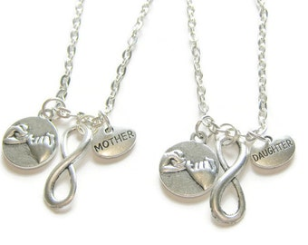 2 Pinky Promise Pinky Swear Infinity Mother Daughter  Necklaces