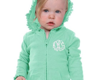 Girls Monogrammed Sweatshirt | Toddler Monogram Sweatshirt | 6M - Girls Size 6 | Infant Monogram Sweatshirt