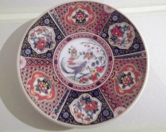 VINTAGE CHINESE PLATE, bird, flowers, home decor