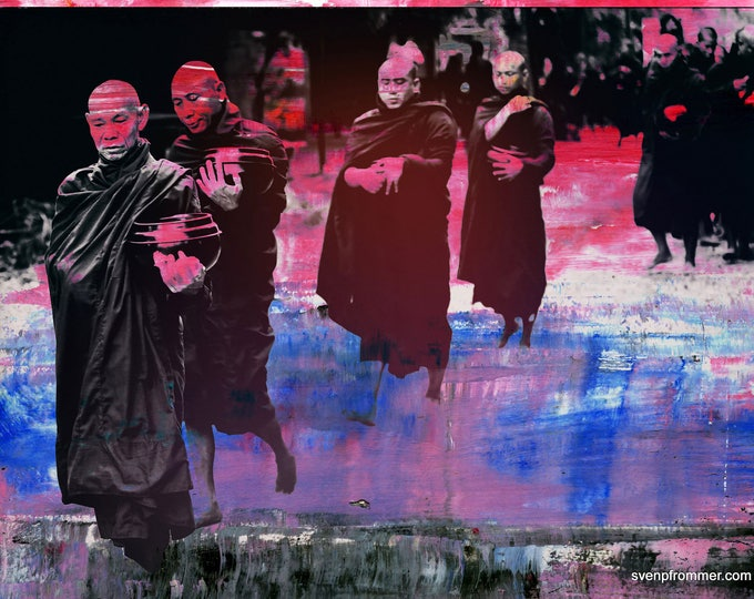 MONKS XVII - Artbox by Sven Pfrommer - Artwork is framed and ready to hang