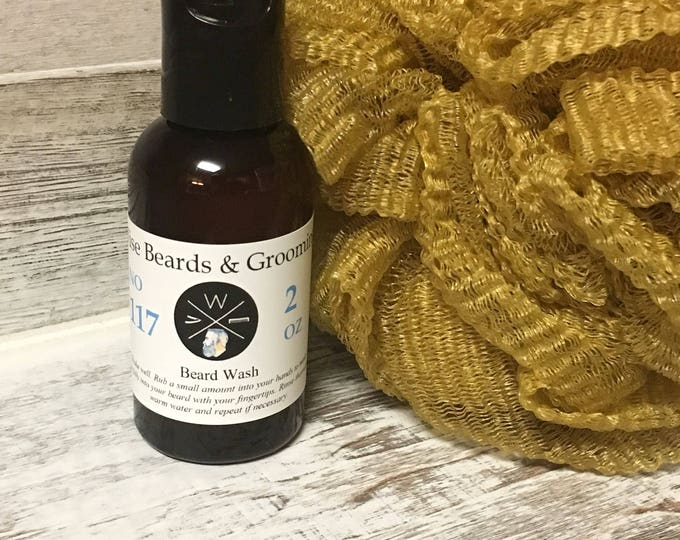 2 ounce Beard Wash - Unscented or Scented Beard Wash - Premium Beard Care Products - Wise Beards & Grooming - Beard Care - Beard Shampoo
