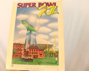 Vintage 1978 NFL Superbowl XII / 12 - 127 Page Program