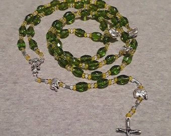 Green elephant rosary
