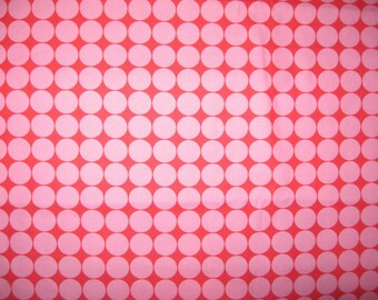 Moda Hoopla Pink Dots on Red - 100% Quilters Cotton Available in Yards and Half Yards