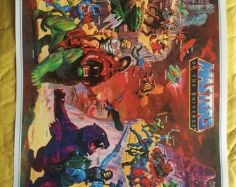 Motu masters of universe He Man toy Poster Print In A3 #retrogaming please read description