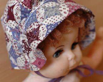 Dolls Clothing *SALE* / Dress Ups / Dolls Bonnet / Imaginative Play / Creative Play / Dolls Clothes / Vintage / Stocking Filler / Purple
