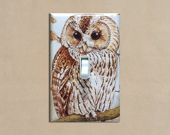 Tawny / Brown Owl - Light Switch Plate Covers Home Decor Outlet