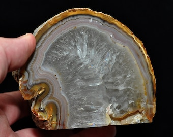 Agate Geode No.21, Druze, Geode, approx. 700 grams