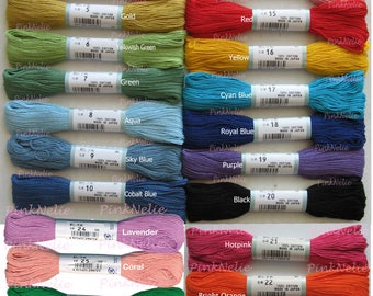 Choose 1 Color from SASHIKO THREADS Japanese Hand Embroidery Threads - 40 meter length