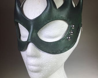 Blue/Green Leather Mask