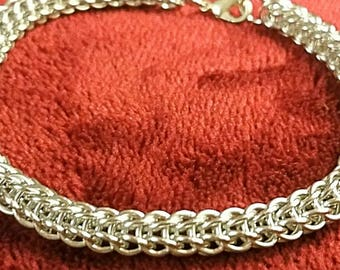 Silver Full P. Micromaille chainmaille Bracelet