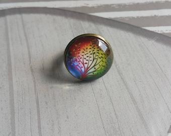 tree of life cabochon ring