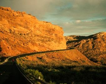 Utah Photography, Road Photography, Southwest Art, Red Canyon, Utah Decor, Large Landscape Print, Utah Art, Office Decor, Red Wall Art