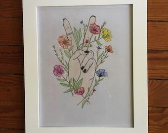 "print of pencil drawing ""Peace"""