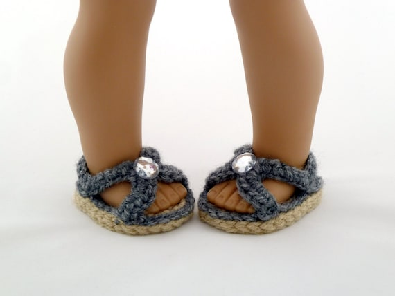 Doll Summer Sandals Crochet Pattern