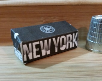 DS-12    Miniature New York Converse shoe box  for Barbie, dollhouses and collectors