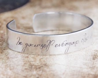 Be Yourself Everyone Else Is Already Taken / Oscar Wilde Jewelry / Motivational Quote Jewelry / Inspirational Quote Jewelry / Literary Gift