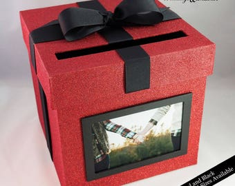 Card box with Photo- Choose Your Colors and Size