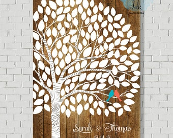 Rustic Wedding Guest Book Sign Wedding Guest Book Ideas, Wedding Tree Wedding Guest Book Alternative Personalized Wedding Gift Wedding Signs