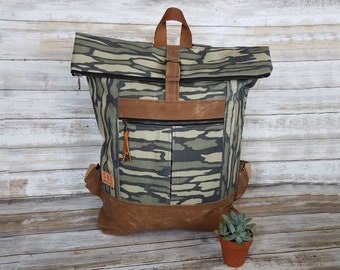 Waxed Canvas Range Backpack, spring/summer bag for travel, work, school, beach, vacation